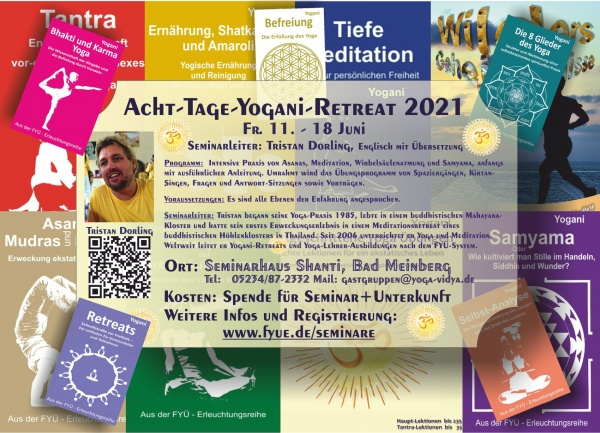 Retreat Ticket for 8-days-AYP-Retreat  Juni 11th to 18th 2021